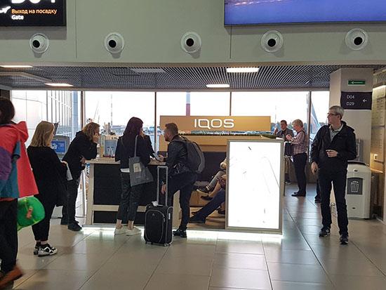 В аэропорту Пулково курить IQOS пока ещё можно. Но осталось совсем немного